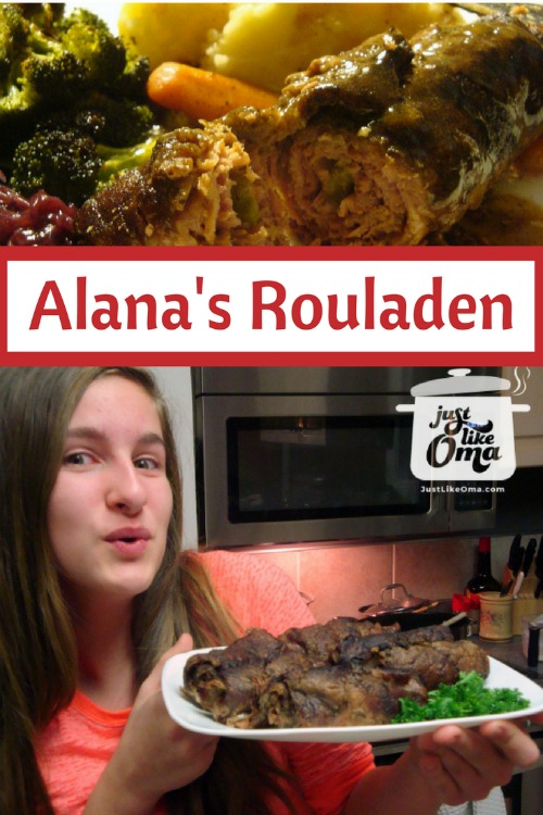 Alana and her birthday Rouladen :)