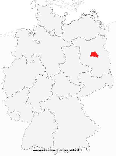 Map of Germany showing Berlin