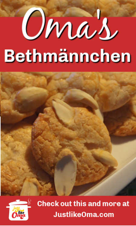 Bethmännchen -- traditional German cookies made with marzipan. Made just like Oma.