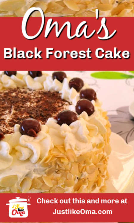 This traditional German Black Forest cake is so easy to make. Try making this creamy, delicious cake yourself. Great for birthdays!