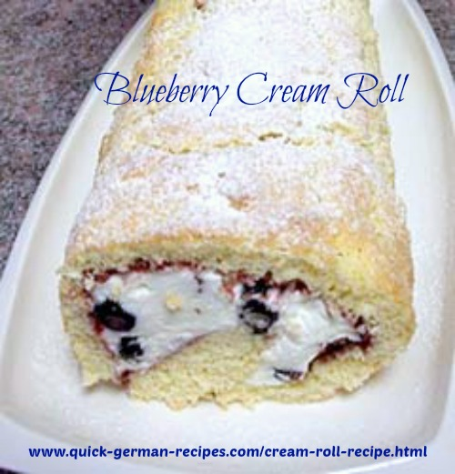 Blueberry Cream Roll