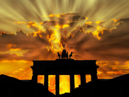 The Brandenburg Gate, standing in unity and peace