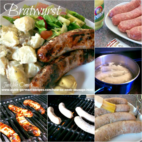 Step by step, how to make Bratwurst