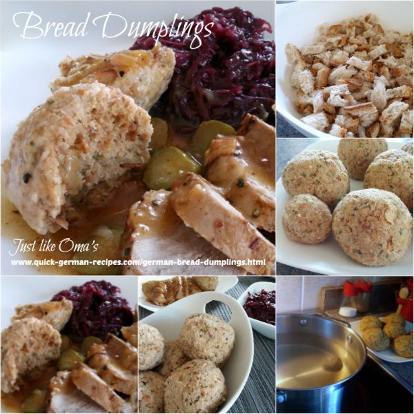 Here are some steps of how to make Bavarian Bread Dumplings