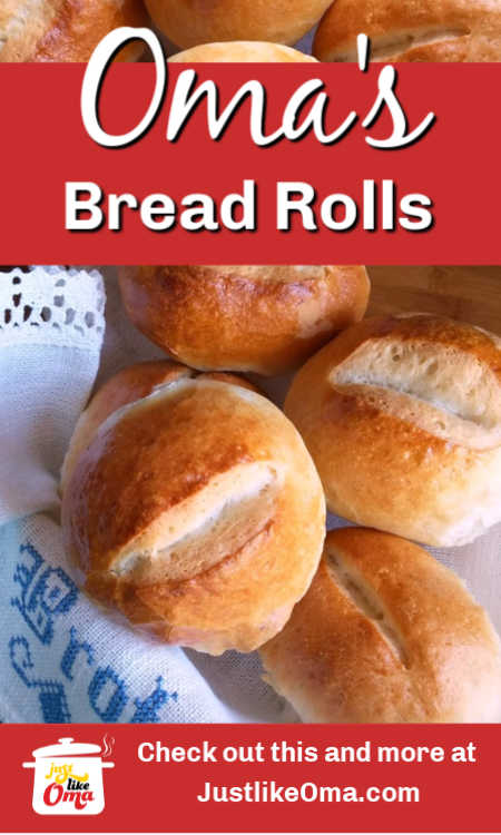 German Bread Rolls are really quite easy to make using Oma's recipe.