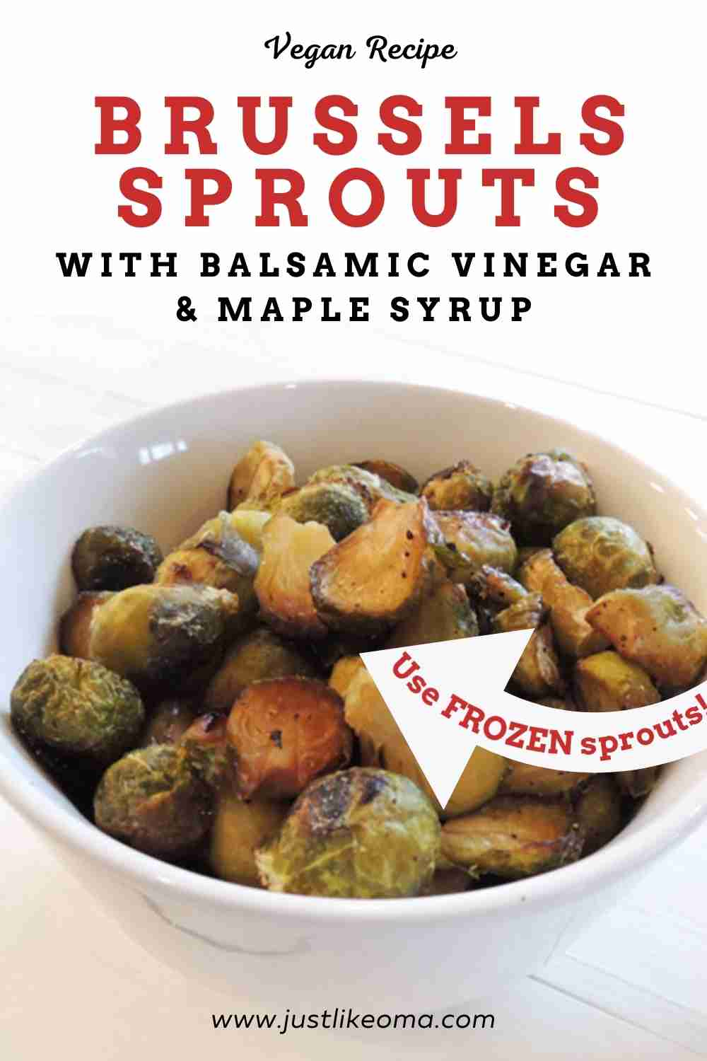 These roasted vegan Brussels sprouts with balsamic vinegar and maple syrup are so quick and easy to prepare, yet so delicious!