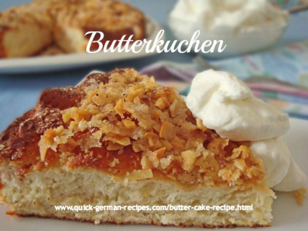 German cakes: Butterkuchen