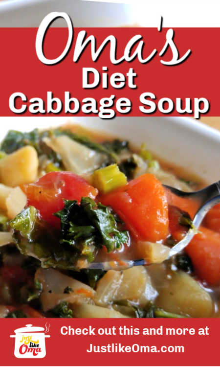 Here's Oma's Cabbage Diet Soup that tastes so German. I think you'll like this version.