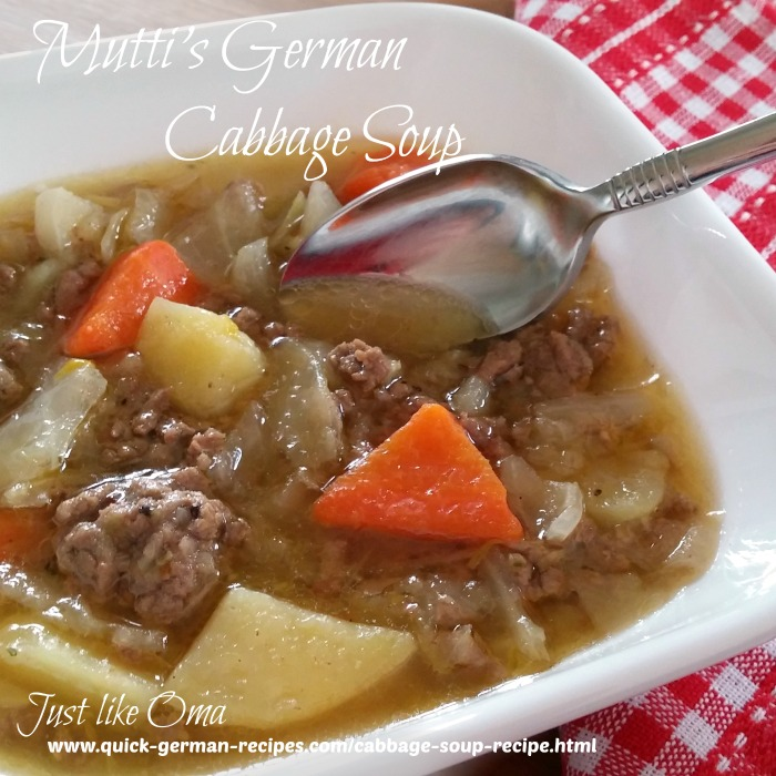 Mutti's German Cabbage Soup