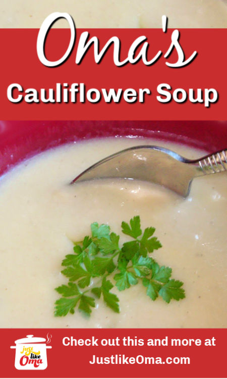 ❤️Make this easy cauliflower soup that tastes traditionally German. Made just like Oma. Easy recipe: https://www.quick-german-recipes.com/cauliflower-soup-recipe.html #cauliflower #cauliflowersoup
