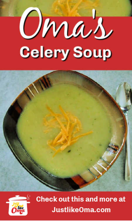 Check out this delicious Cream of Celery Soup without cream made by Melania!