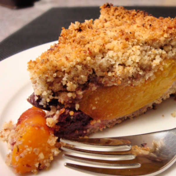 Peach Cherry Tart with Streusel