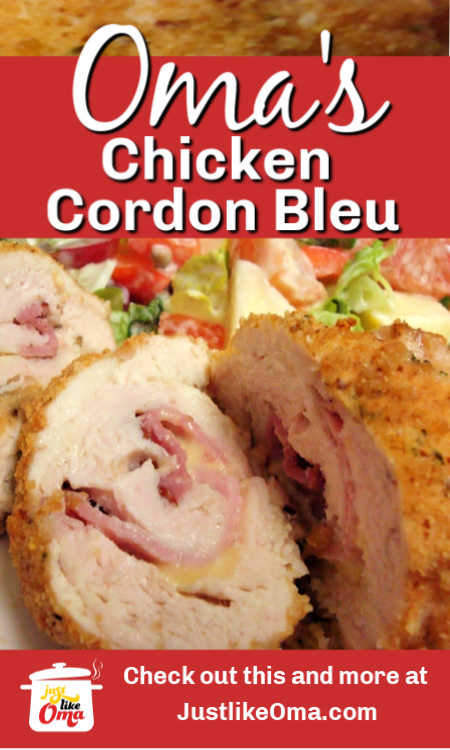 Make this easy chicken cordon bleu which is really just a chicken rouladen.