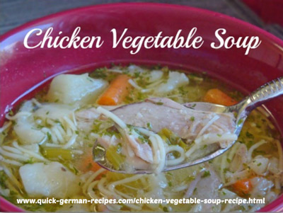 Chicken Vegetable Soup - comfort food