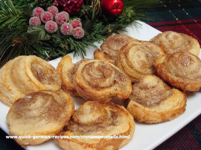 Cinnamon Snails - another easy puff pastry!