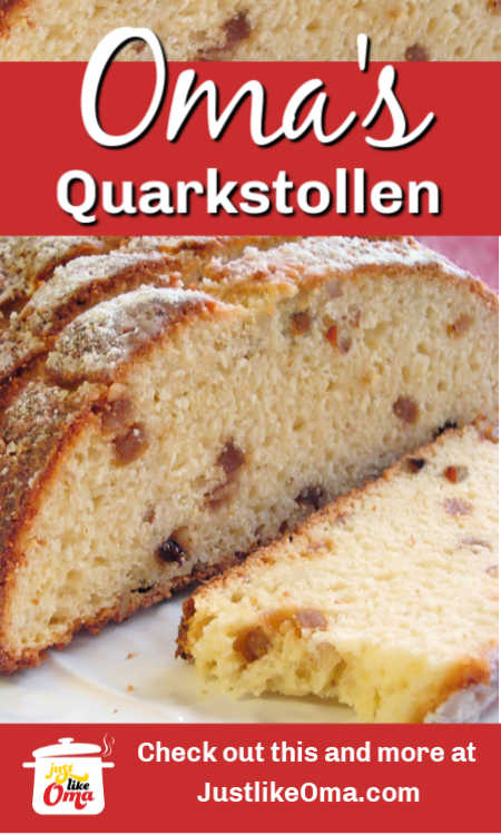 Make this easy Quarkstollen as your Christmas Stollen recipe. No yeast. Just quick and easy!
