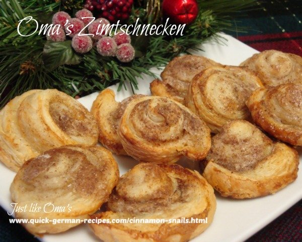 German Christmas Baking: Cinnamon Snails