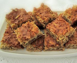 Coconut Bars - Coconut with pecans - delicious!