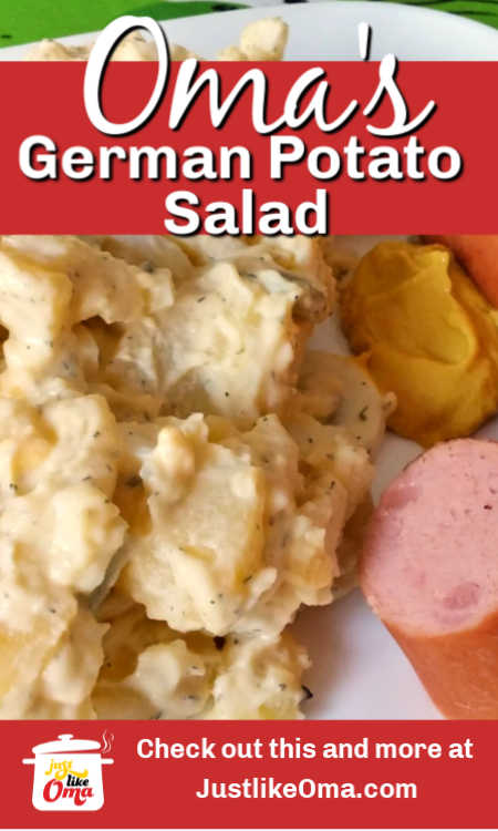 This delicious potato salad is made just like they make it in Northern Germany. So good. It's MY favorite!
