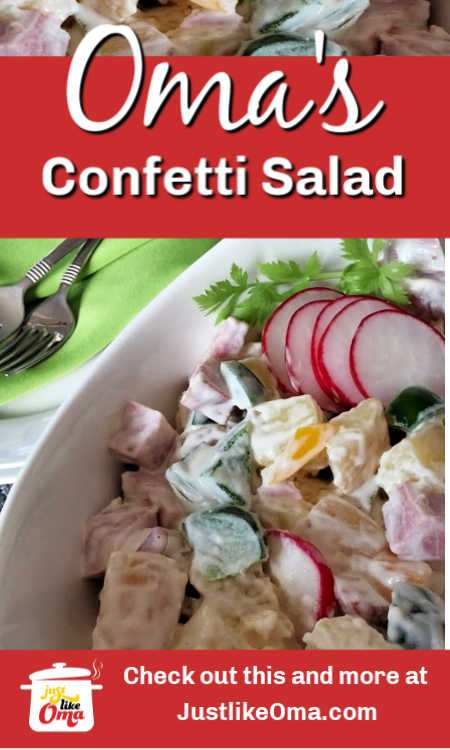 Here's a German Confetti Potato Salad that you'll LOVE! So colorful and refreshing!