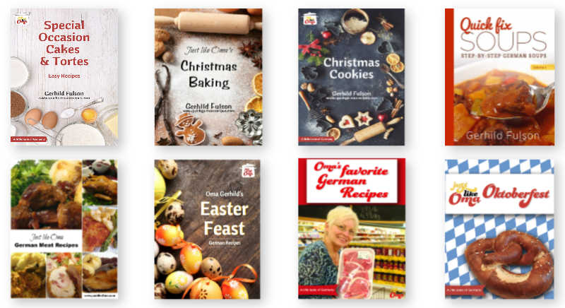Oma's eCookbooks from her https://justlikeoma.store ready to download and enjoy today!