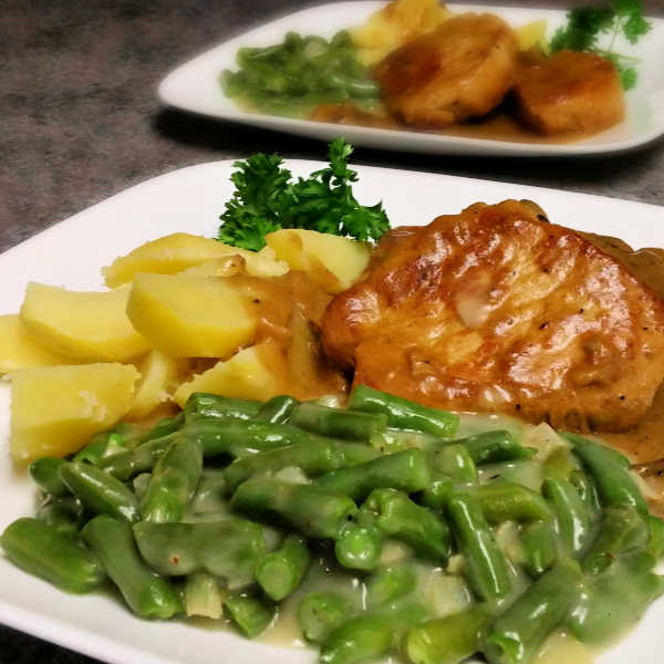 Oma's Cooking Green Beans - Grüne Bohnen