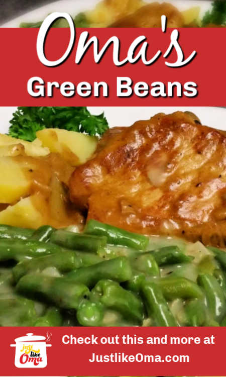 How to cook green beans, just the way your Oma does. It's the German way ... the best way.