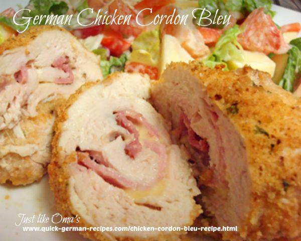 German Chicken Cordon Bleu