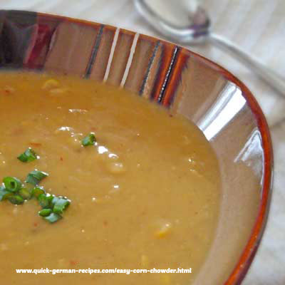Corn Chowder - Oma's non-German comfort food