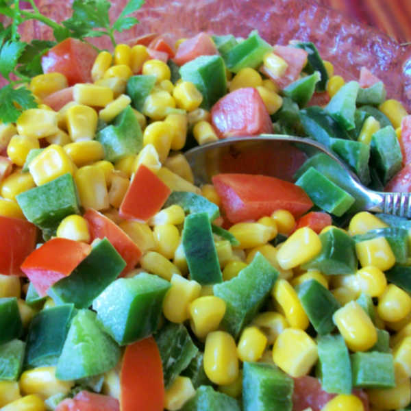 What an unusual but popular salad for Germany...Corn Salad. Try it out for yourself!
