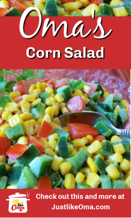 ❤️ German Corn Salad. A quick and colorful addition to your party salads.