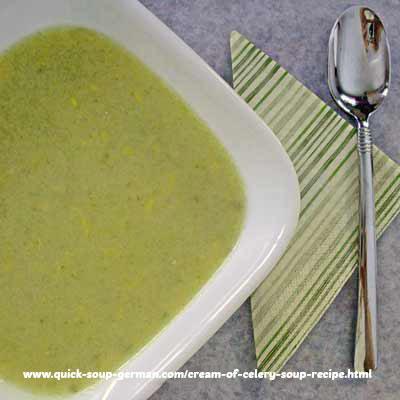 Celery Soup, Cream of - nice light soup