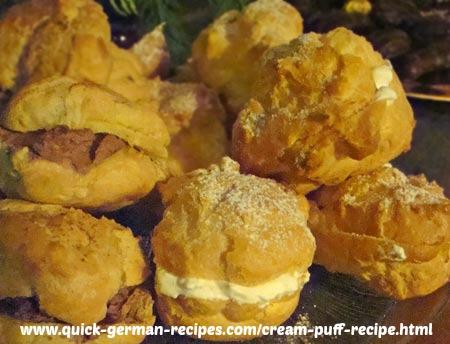 German Desserts: Cream Puffs