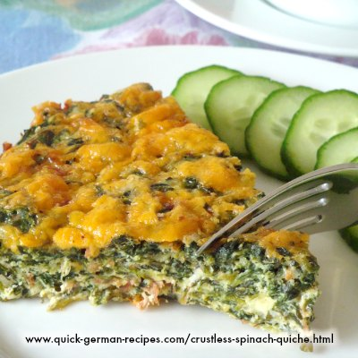 Crustless Spinach Quiche - easy low-carb treat!