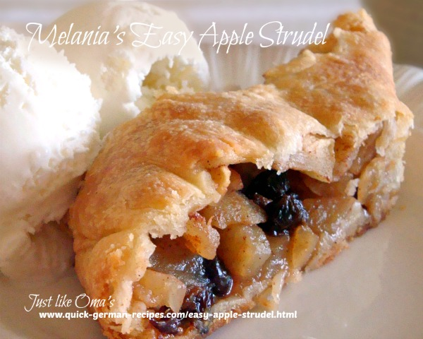 Apple Strudel - Austrian version - more cake-like