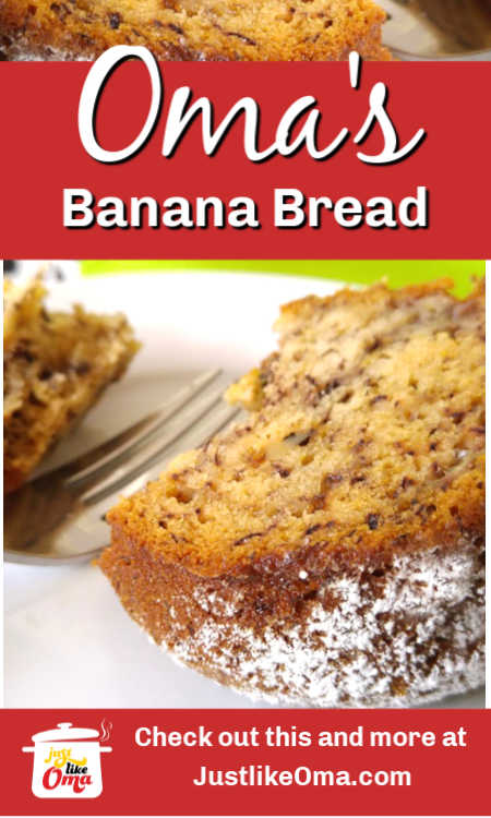 Oma's banana bread recipe, super simple, easy, and delicious (and it's vegan)