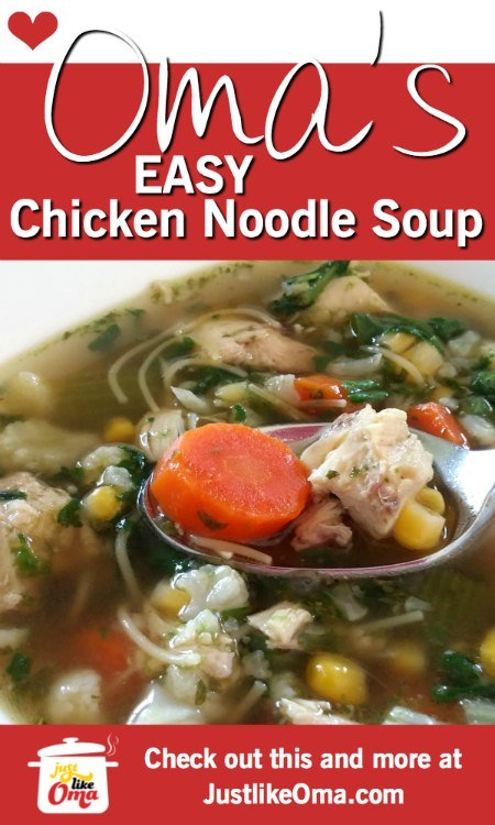 ❤️ Homemade Chicken Noodle Soup -- easily!