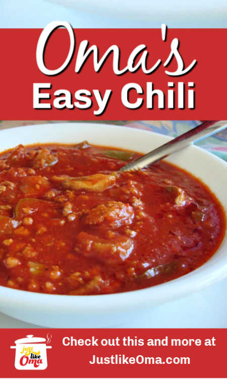 ❤️ Easy slowcooker chili recipe, made just like Oma makes.