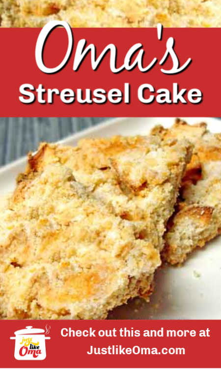 Easy German Crumb Cake - THE German Streusel Cake! Perfect for tea time!