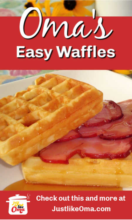 Perfect for your German breakfast buffet: Waffles with ham, just like Oma made...