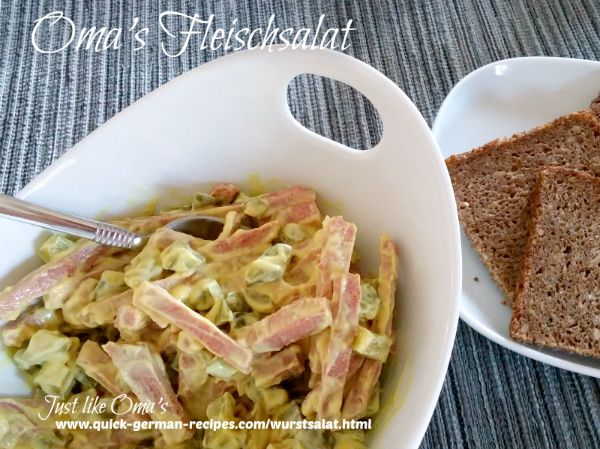 German Meat Salad made with mustard! What a yummy twist on the recipe!