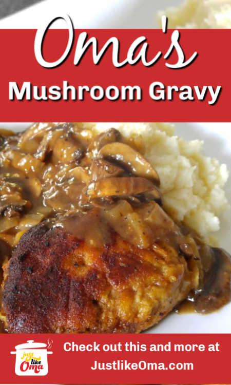❤️ Wonderful mushroom gravy similar to a traditional Jägersauce, just like Oma
