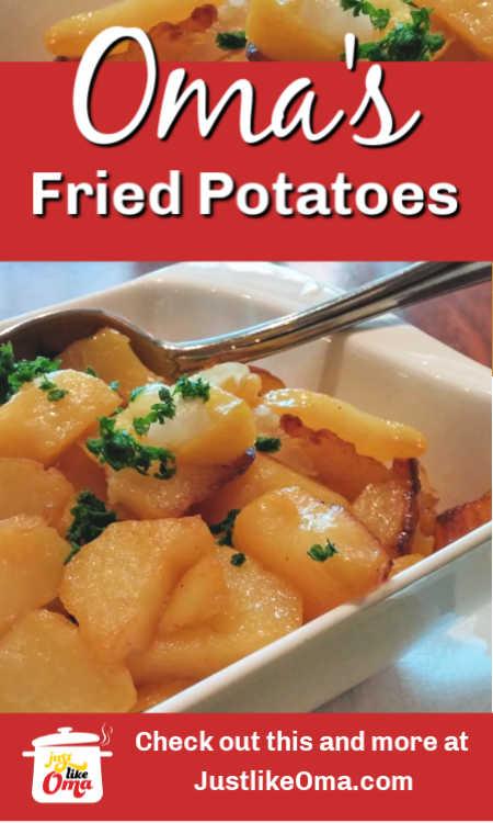 ❤️ Bratkartoffeln ... traditional German fried potatoes ...