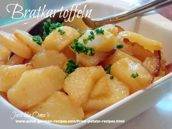 Fried Potatoes, German-style, aka Bratkartoffeln