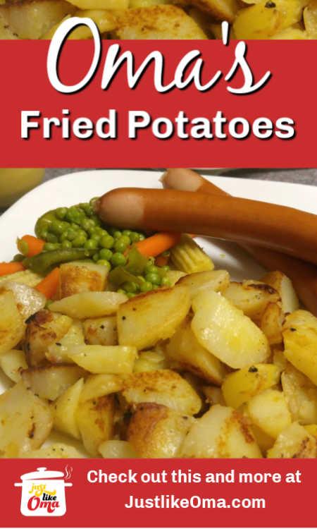 ❤️ Bratkartoffeln ... German Fried Potatoes .. wunderbar when made just like Oma!
