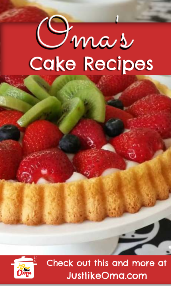 Try making these beautiful, and delicious cake recipes just like Oma!