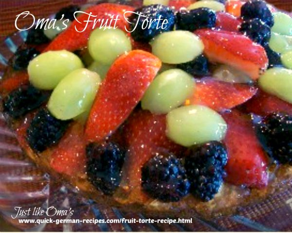 Berry Torte - use any fresh berries