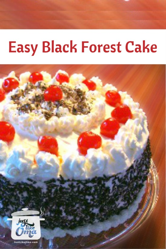 Easiest Black Forest Cherry Cake