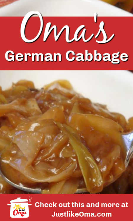 Oma's German Cabbage, aka Weisskohl, is very traditional. Full of immense flavor!