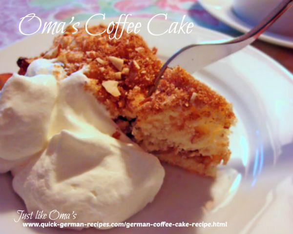 Oma's German Coffee Cake